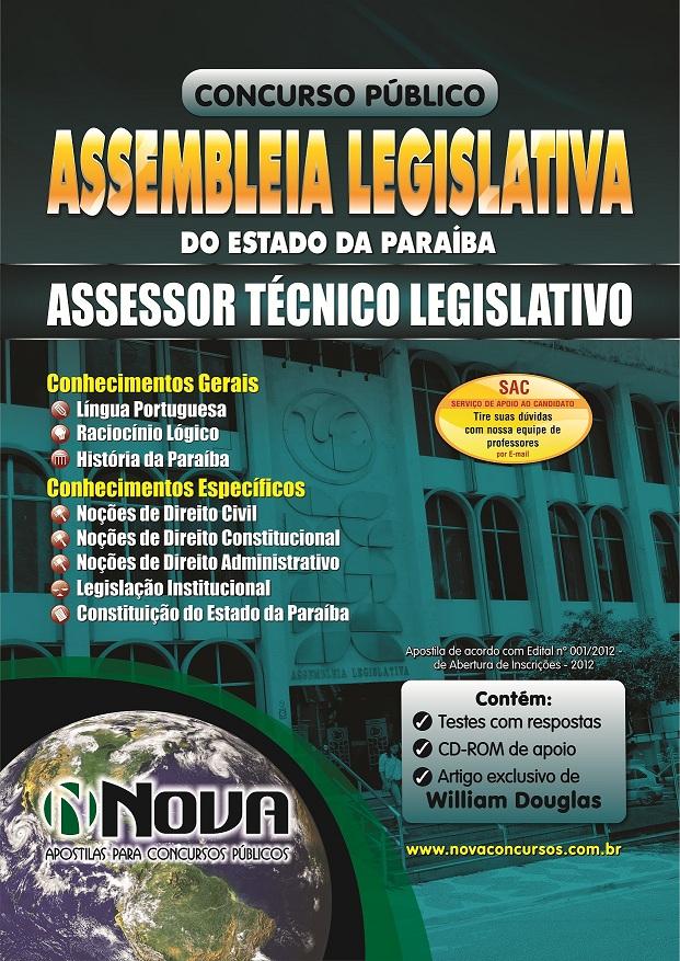 Apostila Concurso Assembléia Legislativa da Paraíba 2013 - Assessor Técnico Legislativo