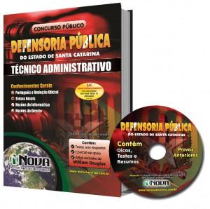 Apostila Técnico Administrativo da Defensoria Pública de Sc