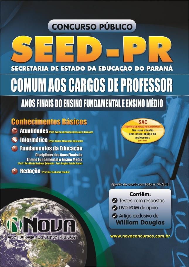 Apostila Professor SEED PR - 2013 - Secretaria de Educação do Paraná