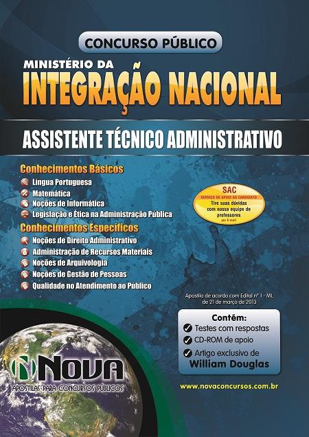 ministerio-integracao-nacional-assistente-tecnico-administrativo