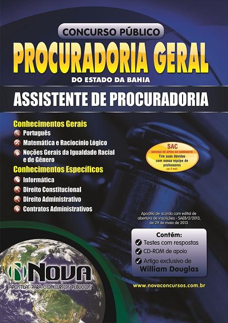 Apostila Concurso Procuradoria Geral - BA - Assistente de Procuradoria