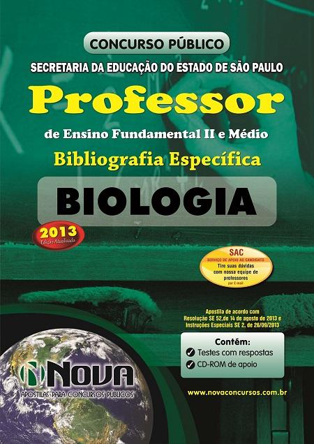 Apostila concurso professor biologia see sp 2013 for Concurso profesor