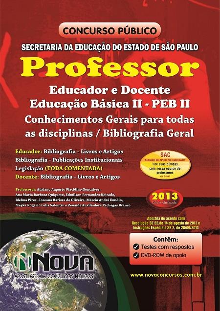 Apostila concurso professor educador see sp 2013 for Concurso profesor