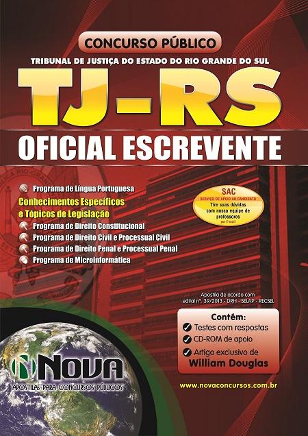 apostila concurso oficial escrevente tjrs