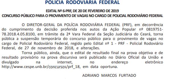 suspensão PRF