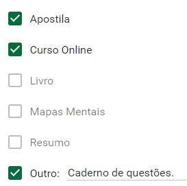 Materiais usados pelo Aprovado na PM-SP Murilo Henrique