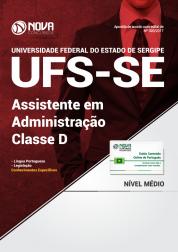 Apostila UFS-SE - Assistente em Administração - Classe D