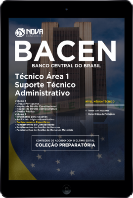 Download Apostila BACEN PDF - Técnico Área 1 - Suporte Técnico-Administrativo