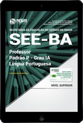 Download Apostila SEE-BA PDF - Professor Padrão P – Grau IA - Língua Portuguesa
