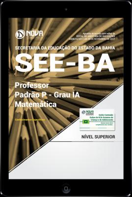 Download Apostila SEE-BA PDF - Professor Padrão P - Grau IA - Matemática