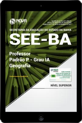 Download Apostila SEE-BA PDF - Professor Padrão P – Grau IA - Geografia