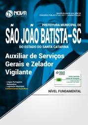 Apostila Prefeitura de São João Batista-SC - Auxiliar de Serviços Gerais e Zelador Vigilante