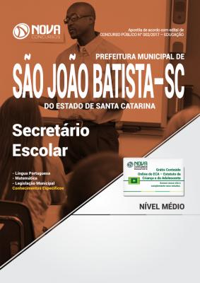 Apostila Prefeitura de São João Batista-SC - Secretário Escolar