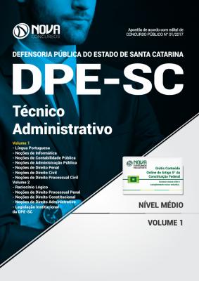 Apostila DPE-SC - Técnico Administrativo