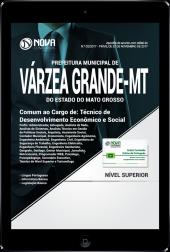 Download Apostila Prefeitura de Várzea Grande - MT PDF - Técnico de Desenvolvimento Econômico e Social