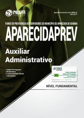 Apostila AparecidaPREV - GO - Auxiliar Administrativo