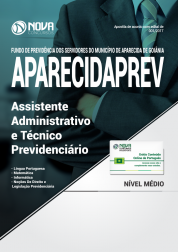 Apostila AparecidaPREV - GO - Assistente Administrativo e Técnico Previdenciário