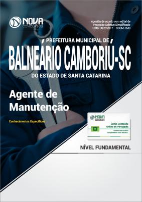 Apostila Prefeitura de Balneário Camboriú - SC - Agente de Manutenção