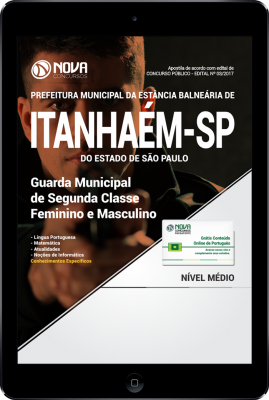 Download Apostila Prefeitura de Itanhaém SP PDF - Guarda Municipal de Segunda Classe