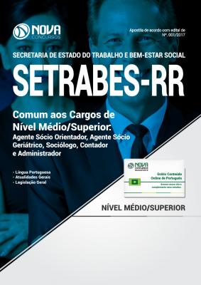 Apostila SETRABES - RR - Comum aos Cargos de Nível Médio/Superior