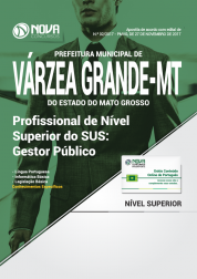 Apostila Prefeitura de Várzea Grande - MT - Profissional de Nível Superior do SUS: Gestor Público