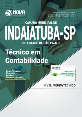 Apostila Câmara Municipal de Indaiatuba - SP - Técnico em Contabilidade