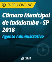 Curso Online Câmara Municipal de Indaiatuba - SP - Agente Administrativo