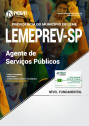 Apostila LEMEPREV- SP - Agente de Serviços Públicos