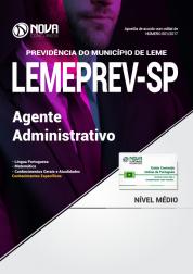 Apostila LEMEPREV- SP - Agente Administrativo