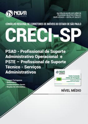 Apostila CRECI - SP - Profissional de Suporte Administrativo Operacional e Técnico-Serviços Administrativos