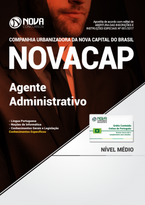 Apostila NOVACAP - DF - Agente Administrativo