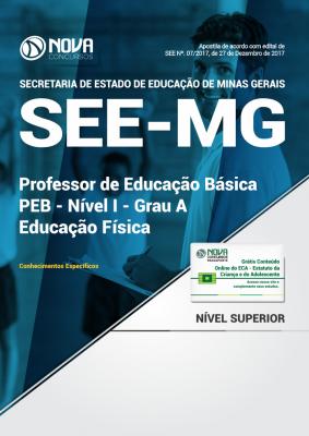 Apostila SEE-MG - Professor de Educação Básica - PEB - Nível I - Grau A: Educação Física