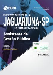 Apostila Prefeitura de Jaguariúna-SP - Assistente de Gestão Pública