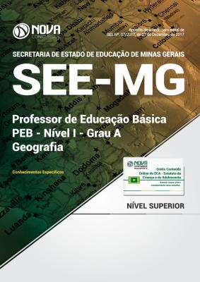 Apostila SEE-MG - Professor de Educação Básica - PEB - Nível I - Grau A: Geografia