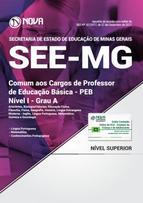Apostila SEE-MG - Comum aos Cargos de Professor de Educação Básica - PEB - Nível I - Grau A