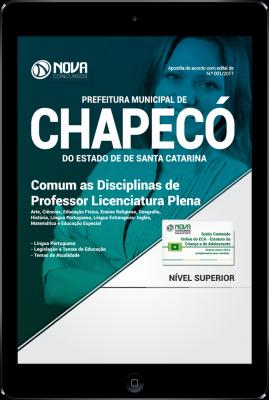 Download Apostila Prefeitura de Chapecó - SC PDF - Comum as Disciplinas de Professor Licenciatura Plena