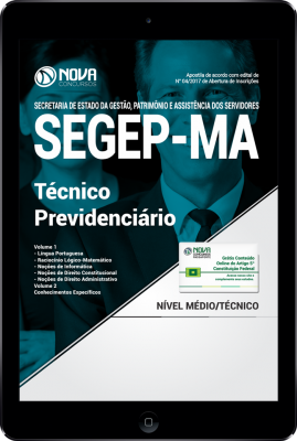 Download Apostila SEGEP-MA PDF - Técnico Previdenciário