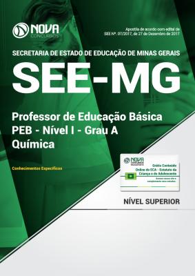 Apostila SEE-MG - Professor de Educação Básica - PEB - Nível I - Grau A: Química