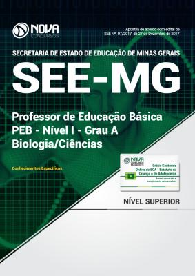 Apostila SEE-MG - Professor de Educação Básica - PEB - Nível I - Grau A: Biologia/Ciências