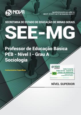 Apostila SEE-MG - Professor de Educação Básica - PEB - Nível I - Grau A: Sociologia