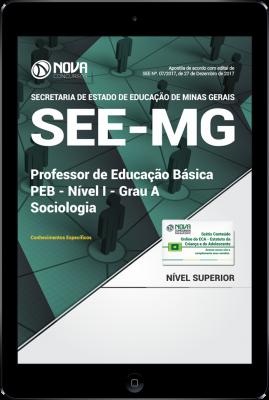 Download Apostila SEE-MG PDF - Professor de Educação Básica - PEB - Nível I - Grau A: Sociologia