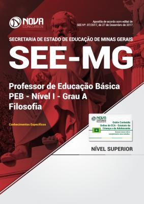 Apostila SEE-MG - Professor de Educação Básica - PEB - Nível I - Grau A: Filosofia