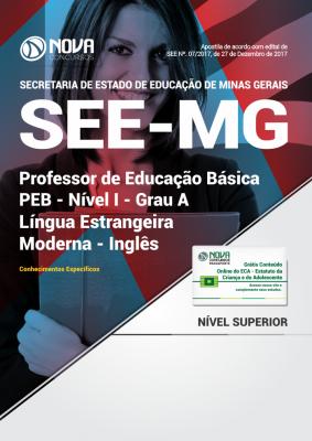 Apostila SEE-MG - Professor de Educação Básica - PEB - Nível I - Grau A: Língua Estrangeira Moderna - Inglês
