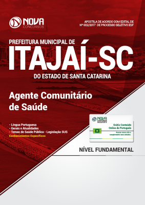 Apostila Prefeitura de Itajaí - SC - Agente Comunitário de Saúde