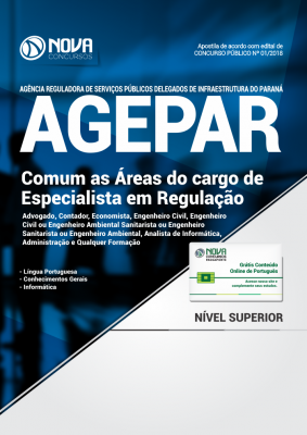 Apostila AGEPAR-PR - Comum as Áreas de Especialista em Regulação