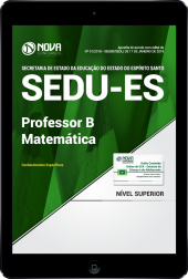 Download Apostila SEDU-ES PDF - Professor B - Matemática