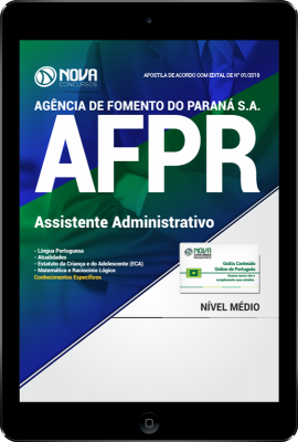 Download Apostila AFPR PDF - Assistente Administrativo