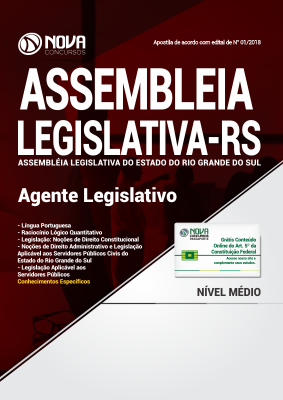Apostila Assembléia Legislativa - RS - Agente Legislativo