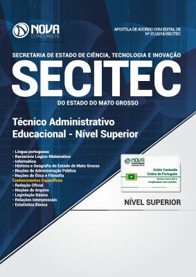 Apostila SECITEC-MT - Técnico Administrativo Educacional - Nível Superior
