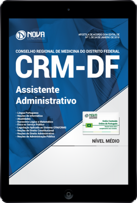 Download Apostila CRM-DF PDF - Assistente Administrativo